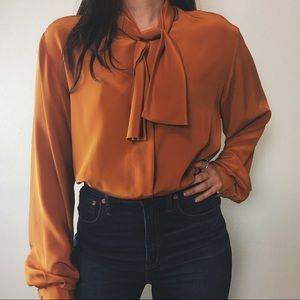 Tops - ELIZA pussy bow blouse